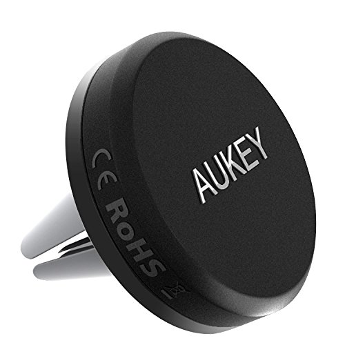 AUKEY Car Phone Mount, Air Vent Magnetic Cell Phone Holder for iPhone X / 8 / 8 Plus / 7 / 7 Plus / 6s Plus, Samsung Galaxy, LG, Nexus and More (Grey)