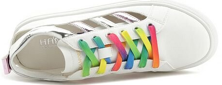Laruise Women's Flat Shoes Silver hsbJmncY