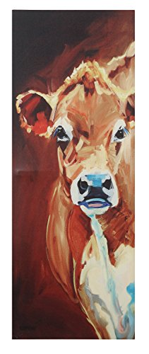 Creative Co-op Rectangle Canvas Cow Wall -