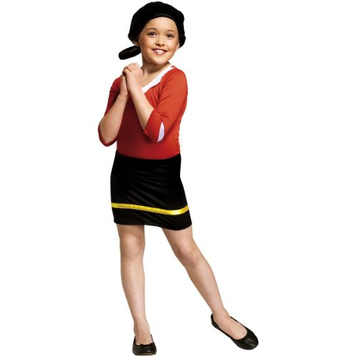 Child Popeye Costumes (Olive Oyl Child Costume (Small))