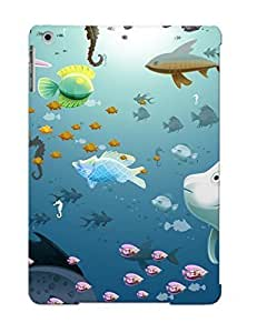 Fashion Tpu Case For Ipad Air- Fish Defender Case Cover For Lovers