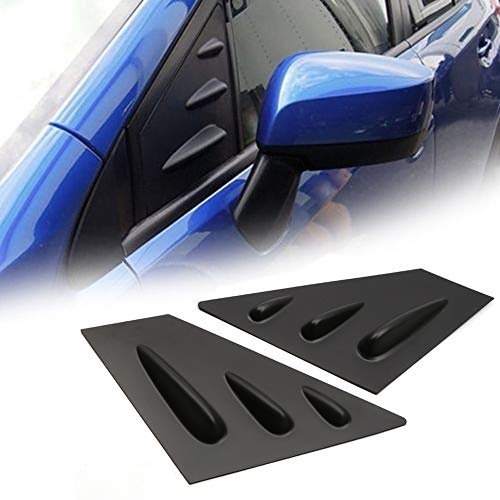 (YUZHONGTIAN 2015-2019 for Subaru WRX, STi Car Accessories Window Scoop Louvers Cover ABS 2PCS (Matte Black))