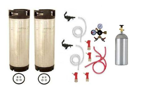 Two Tap Basic Home Brew Kegerator Kit, Pin Lock, Chudnow WYE,d Regulator by Learn To Brew LLC
