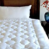Exquisite Hotel Billowy Clouds 100% Cotton Mattress Pad, White, Twin