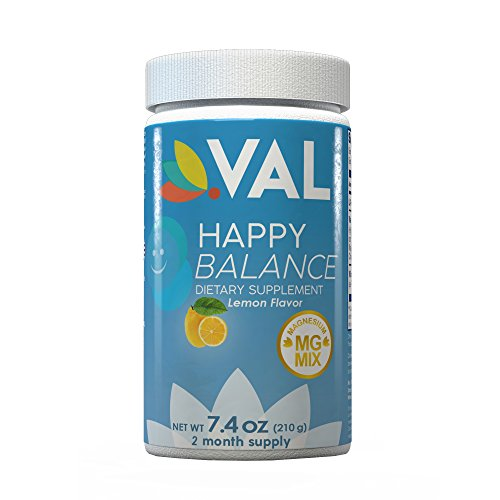 Natural Antidepressant (HAPPY BALANCE VAL | SEROTONIN MOOD BOOSTER Natural Drink for Depression & Anxiety Relief on Amazon | BEST Magnesium Mix Citrate, Glycinate, Chelate, L-Tryptophan & B6 | Replace Antidepressant)