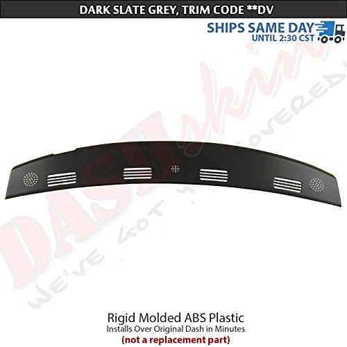 DashSkin Molded Defrost Dash Cover Compatible with 02-05 Dodge Ram in Dark Slate Grey
