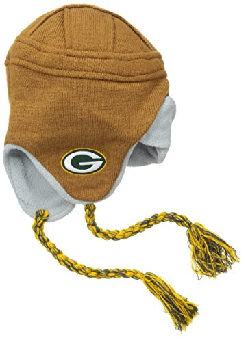 OuterStuff NFL Youth Green Bay Packers RZ Tassel Knit Cap, Hunter, Toddler