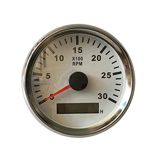 ELING Tachometer RPM Gauge with Hour Meter for Car Truck Boat Yacht 0-3000RPM 85mm with Backlight