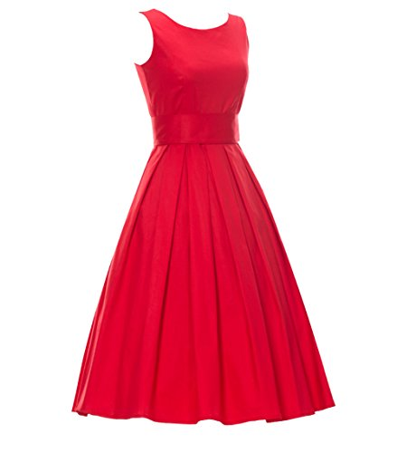 Einfarbig Engerla A Kleid Damen Rot Linie OPPqSwF