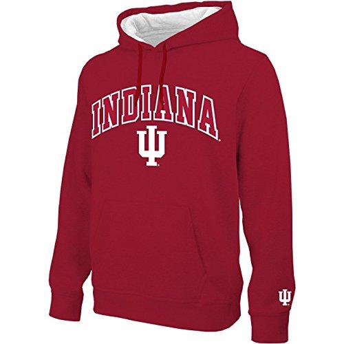 Arched Sweatshirt - Indiana Hoosiers Arched Men's Hoodie Sweatshirt - Crimson (XX-Large)