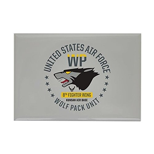 CafePress USAF Wolf Pack 8Th Fighter Wing Rectangle Magnet, 2