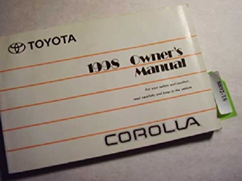 1998 toyota corolla owner s manual toyota amazon com books rh amazon com toyota corolla 98 user manual toyota corolla 98 user manual