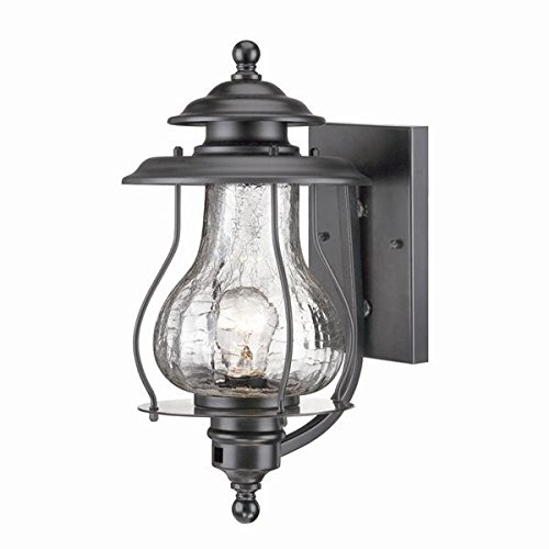 Ridge Collection 1-Light Wall Mount Outdoor Light Fixture, Matte Black (Aluminum Medium Exterior Wall Mount)