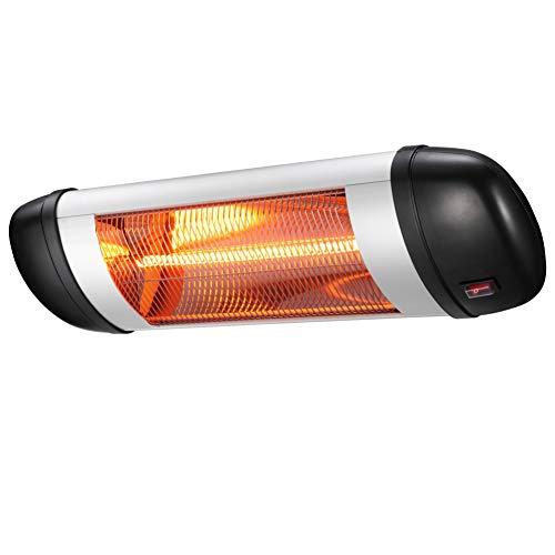 Xbeauty Wall Mounted Infrared Space Heater, Indoor/Outdoor Energy Efficient Waterproof Patio Heater (Best Outdoor Porch Heater)
