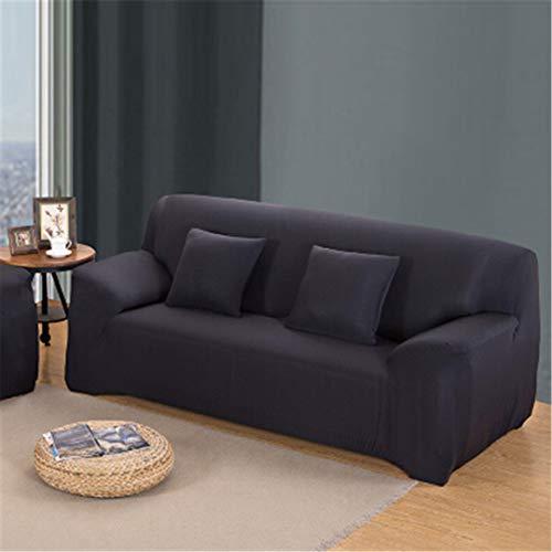 ChairoZiMi Leather Sofa Sets All-Inclusive Universal Cover Towel European Summer Fabric Sofa Cushion Sofa Cover Duo Full Cover 1Pcs Black Two seat Sofa