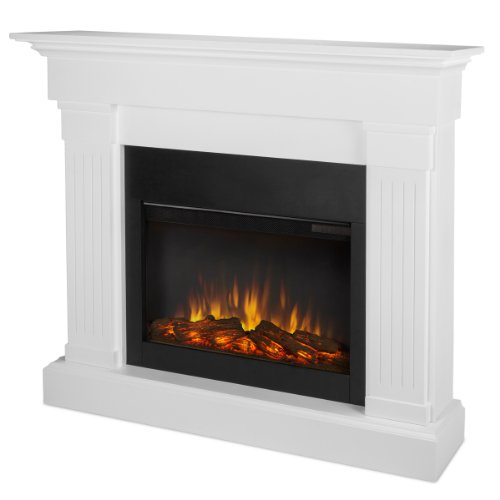 Traditional Gel Fuel Fireplace - Real Flame 8020E-W 8020E Crawford Electric Fireplace, White