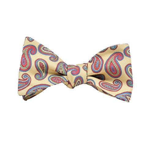 (Peter-Blair Men's Yellow Danforth 100% Silk Bow Tie Handmade in USA (39DAY3BT))