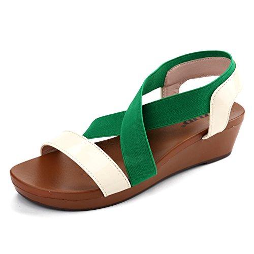 Summer Flat Sandals,Lady Korean Sandals Flat Slip Students,Pregnant Womens Shoes B