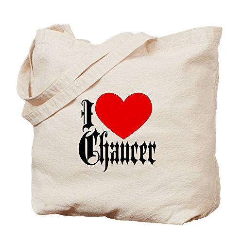CafePress–I Love Chaucer–Gamuza de bolsa de lona bolsa, bolsa de la compra