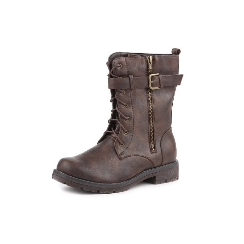 Amazon.com | Reneeze BECKY-01 Women's Combat Boots- Brown, Size 6 ...