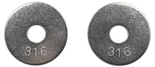 (3/8 ID x 1-1/2 OD Stainless Steel Fender Washer Large OD Flat Washers .050 Thick 316 SS (25 Pieces))