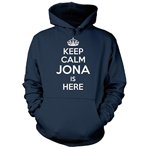 Keep Calm Jona Is Here Cool Gift - Hoodie Navy - Brothers Jonas Hoodie
