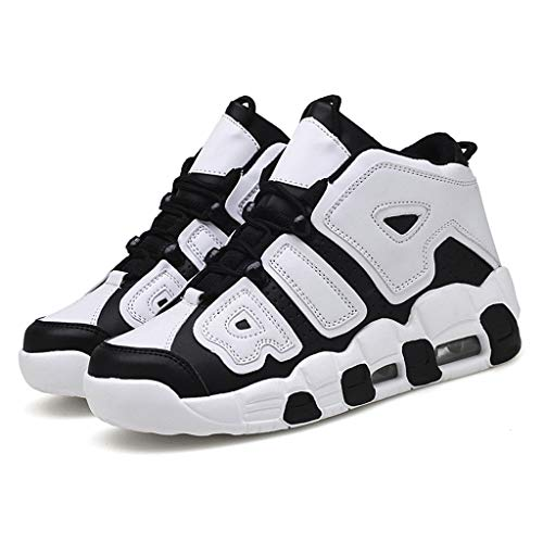 Price comparison product image High-top Sneakers for Men 2019 Newest Casual Fashion Round Toe Comfortable Canvas Shoes Flat Ankle Boot (US:7.5,  Black 2)