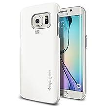 Galaxy S6 Edge Case, Spigen® [Thin Fit] Exact-Fit [Shimmery White] Premium Matte Finish Hard Case for Galaxy S6 Edge (2015) - Shimmery White (SGP11409)
