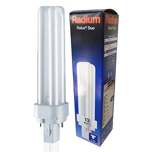 RADIUM Ralux® Duo, Kompakt-Leuchtstofflampe Sockel G24d 13 Watt / 840 RA31316919