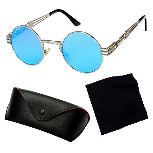 HipHop Mujeres Vintage Gafas Classic Metal Sunglasses de Steampunk Punk juqilu sol Hombres C16 wXgxq5RH