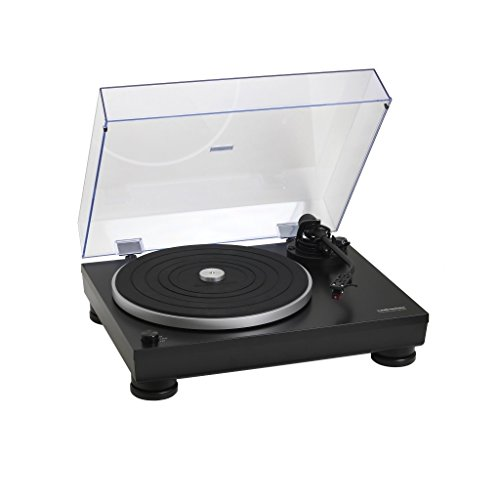 Audio-Technica AT-LP5 – Tocadiscos (Tocadiscos de tracción Directa, Manual, Negro, Aluminio, 33 1/3,45, USB)