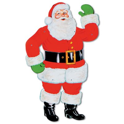 Beistle 1-Pack Jointed Santa, 29-Inch]()