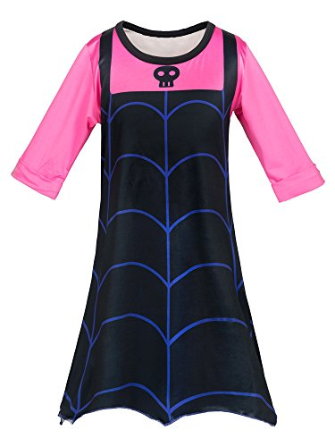 Wenge Girls Vampirina Costume Outfit Halloween Dress Up Toddler Baby Christmas Cosplay Outfit Kids Party Dresses (4-5Y/120cm, -