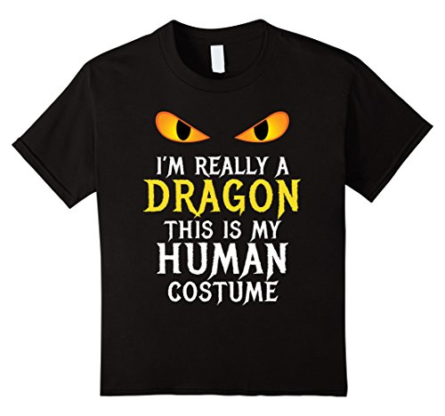 Kids I'm Really A Dragon Halloween Costume Shirt Easy Funny 12 (College Halloween Costumes Girls)