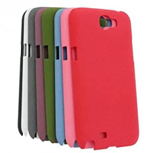 Plastic Sulfur Sand Matt Back Case For Samsung GALAXY Note II N7100 --- Color:Rose Red