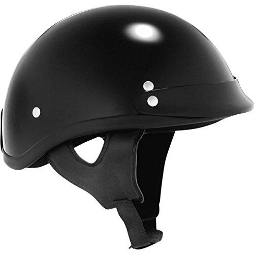Skid Lid Traditional Half Helmet - Skid Lid Gloss Traditional Helmet (Black, XX-Large)