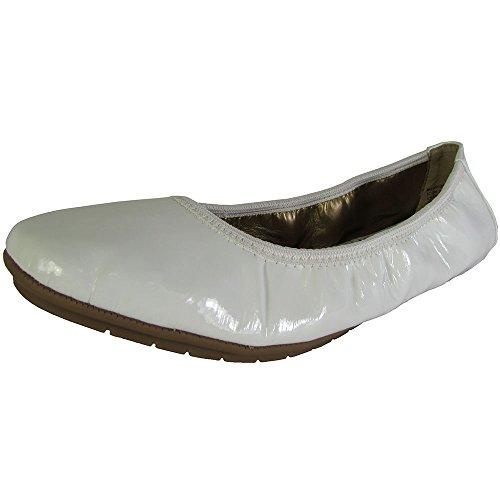 Weiße Too Flach Me Leder Frauen Ballerinas Icon2 Lacklederoptik aYxxd1Hqw