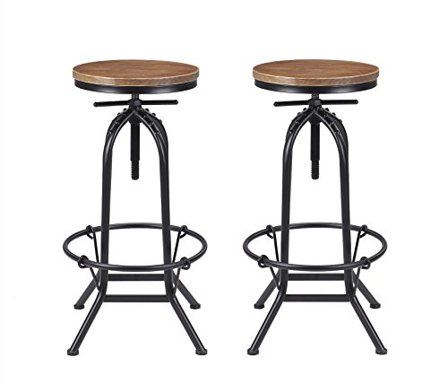 Retro Adjustable Bar Stools - 2