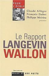 Pour l'école : Le rapport Langevin-Wallon