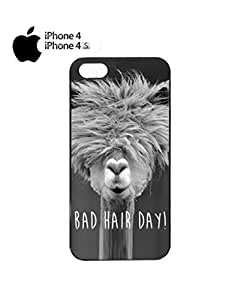 Bad Hair Day Llama Mobile Cell Phone Case Cover iPhone 4&4s Black