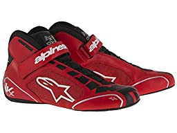 Alpinestars 2712113-312-6 Tech 1-KX Shoes, Red/Black/White, Size 6