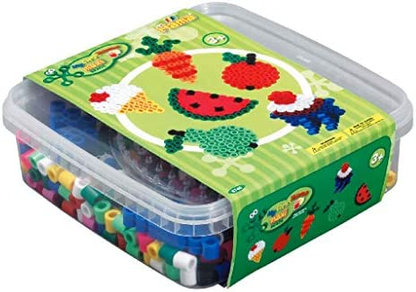 Hama Maxi Bead-Recipiente para Alimentos, Multicolor (10.8740): Amazon.es: Juguetes y juegos