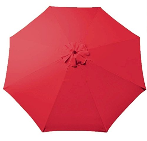 Tokept Replacement Umbrella Canopy for 9ft 8 Ribs Red (Only Canopy)