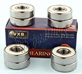 608 bearing sealed - 8 Skateboard 608-2rs Sealed Ceramic Bearing 8x22x7mm VXB Brand