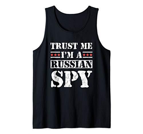 Trust Me I'm A Russian Spy Funny USSR Soviet Parody Tank Top