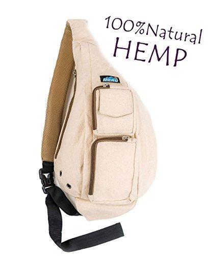 Meru Sling Backpack/Sling Bag - Small Sling Backpack Crossbody Backpack for Women and Men. Sling Bags for Women - One Strap Backpack for Women and Men Natural - Hemp Single