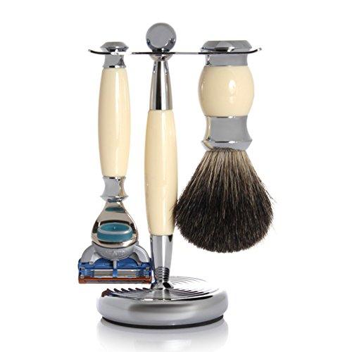 【2019正規激安】 GOLDDACHS Shaving 100% Set, Fusion, 100% badger hair, Fusion, white/silver GOLDDACHS B07H4HYS8M, カントリー工房Sugar:13a182f1 --- movellplanejado.com.br