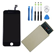 VN STORE for iPhone 6 Screen Replacement Lcd Touch Screen Digitizer Frame Assembly with Replacement Kit (Black 4.7 inch LCD)