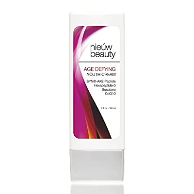 AGE DEFYING YOUTH CREAM by nieuw beauty. Skin Firming Cream for Face, Neck & Décolleté for Women and Men. Reduces Wrinkles, Tightens, Brightens & Firms skin. For Normal to Dry Skin Types. 2oz/60ml