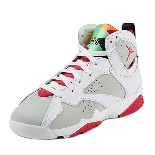 Jordan 7 Retro Bg Big Kids Style: 304774-125 (5.5Y, WHITE/TRUE RED-LIGHT SLVR-TRMLN)